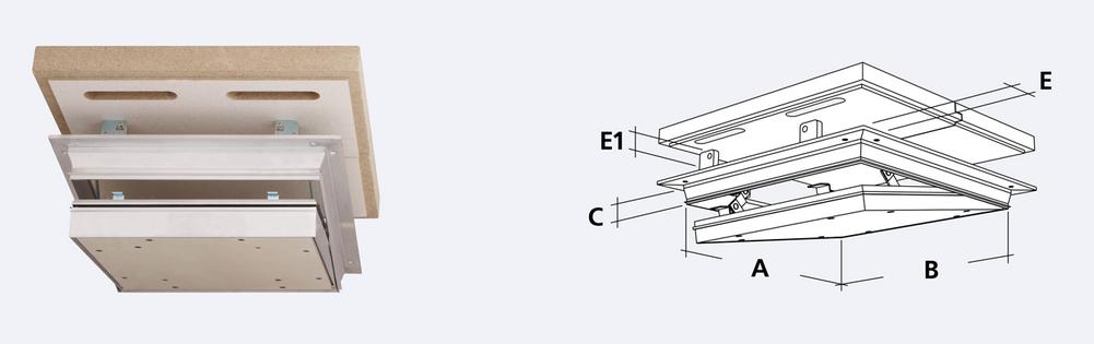 Alumatic F/EI 90 Revizní klapka
