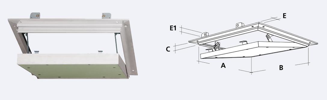 Alumatic Revizní klapka vzducho- a prachotěsná