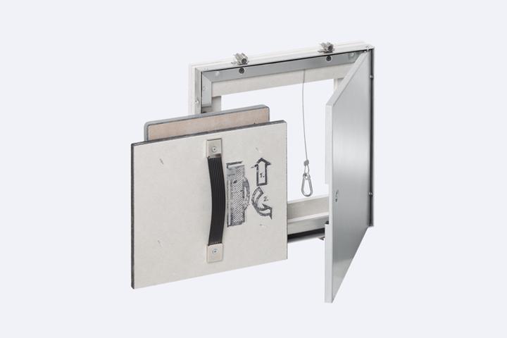 Šachtová revizní klapka AluRapid Safe EI 30/EI 90